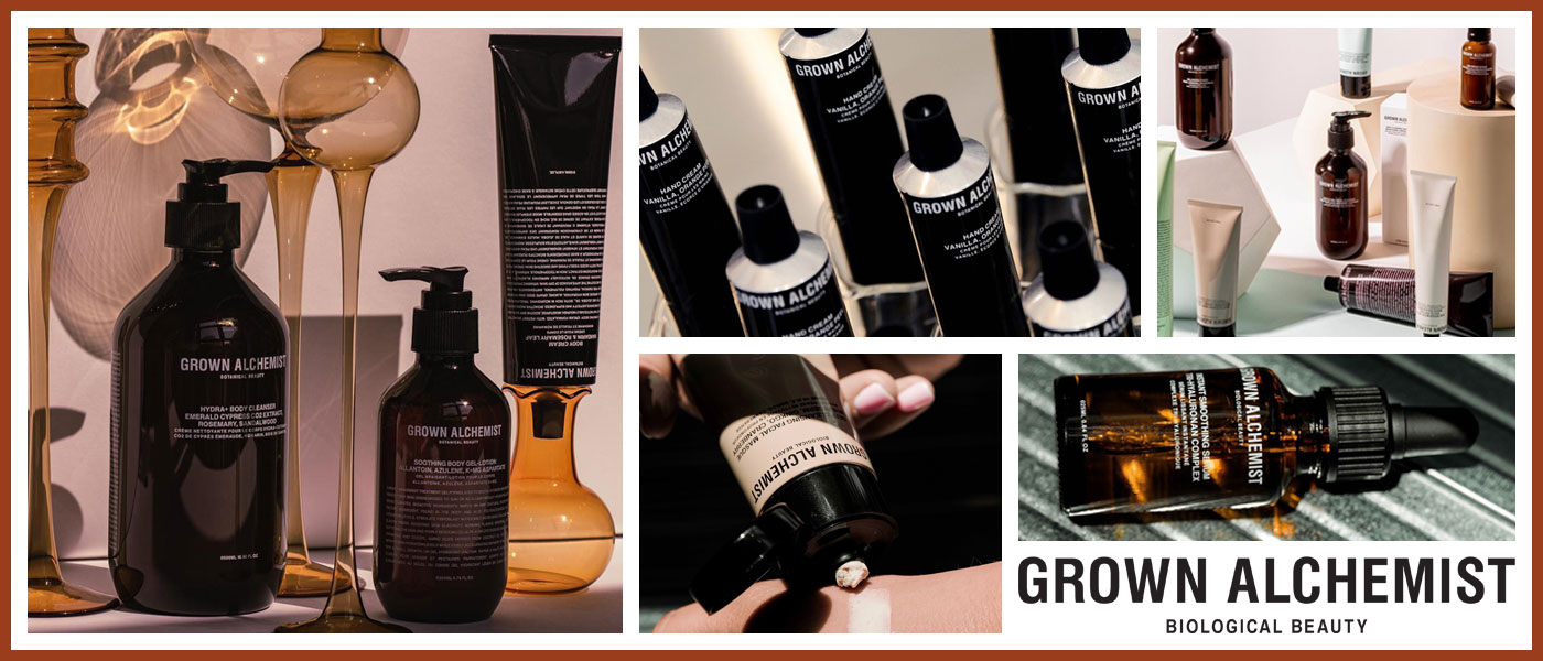Grown Alchemist beauty products available from Beauty Solutions