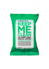 Keep Me Clean Clarifying Facial Wipes with Cucumber + Witch Hazel