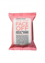 Wipe Your Face Off Make-Up Removing Facial Wipes with Pink Grapefruit + Apple