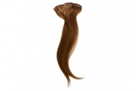 Original Clip In 100% Human Hair - Chestnut Brown