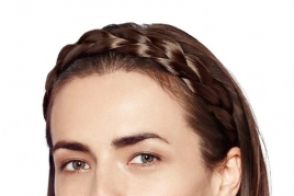 Braided Headband Large - Dark Brown SE