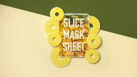 SLICE MASK PINEAPPLE