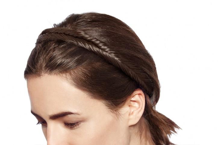 Fishtail Braided Headband Medium - Mocha Brown SE